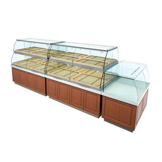 木纹面包中岛柜 适用于面包店超市面包专柜